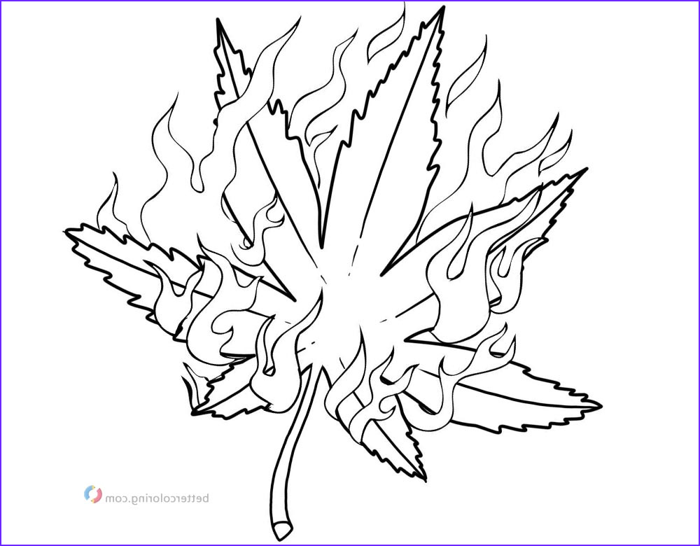 Weed Coloring Books Luxury Photos Weed Coloring Pages Pot Leaf with Fire Free Printable
