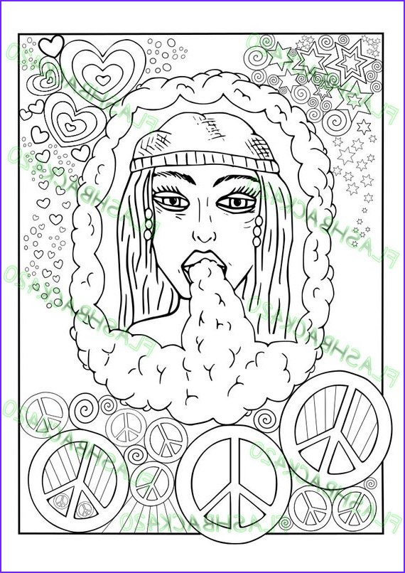 Weed Coloring Books Unique Photos Stoner Gift Printable Coloring Page for Adult Bong Hippie