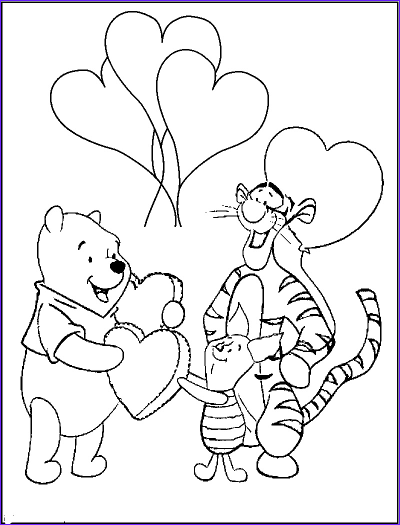 Winnie the Pooh Coloring Book Inspirational Collection Pooh Valentine Coloring Pages Pooh