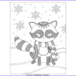 Winter Coloring Pages For Adults Beautiful Image Raccoon Winter Coloring Page For Adults And Kids Easy