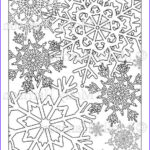 Winter Coloring Pages For Adults Cool Photos Items Similar To Snowflake Coloring Page Various