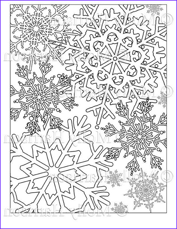 snowflake coloring page various