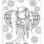 """Winter Coloring Pages For Adults Elegant Image Angel Holding Fawn From The Book """"whimsical Winter"""