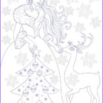 Winter Coloring Pages For Adults Inspirational Collection Nicole S Free Coloring Pages Winter Princess Coloring