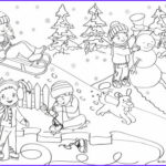 Winter Scene Coloring Pages Beautiful Gallery Winter Scene Colouring Page
