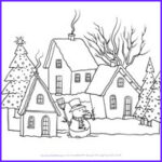 Winter Scene Coloring Pages Beautiful Images Winter Coloring Pages Print Winter To Color