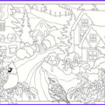 Winter Scene Coloring Pages Beautiful Photos 5 Free Winter Scenes Coloring Pages