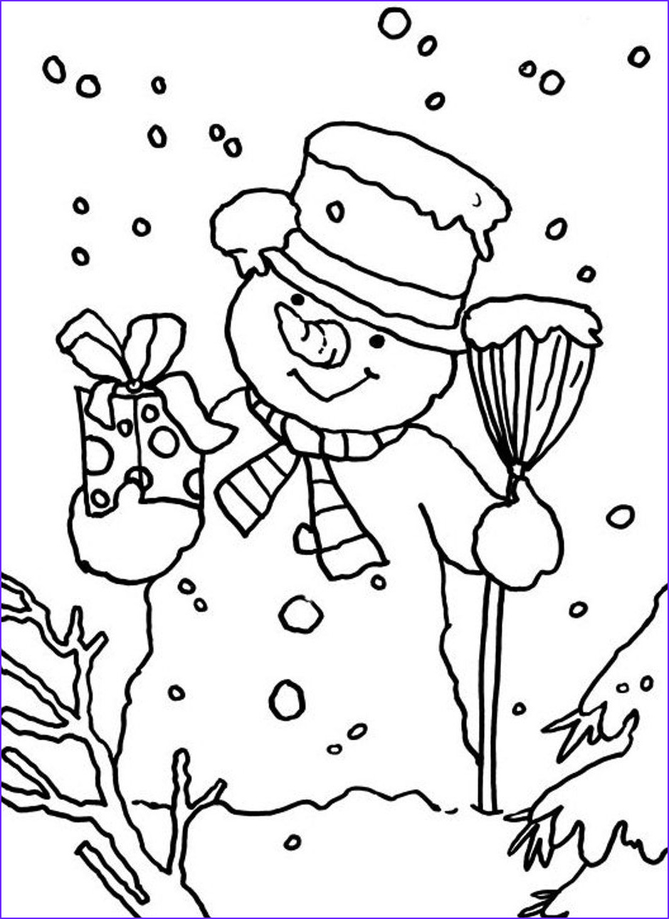 printable winter scene coloring pages