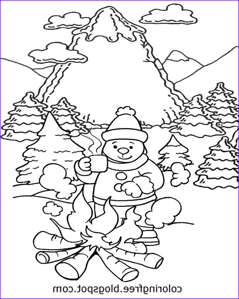 frozen winter snow coloring pages free