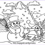 Winter Scene Coloring Pages Cool Collection Free Coloring Pages Printable To Color Kids