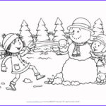 Winter Scene Coloring Pages Cool Photography Snowball Fight Coloring Page