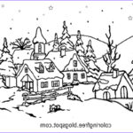 Winter Scene Coloring Pages Cool Photos Free Coloring Pages Printable To Color Kids