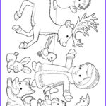 Winter Scene Coloring Pages Elegant Collection Winter Scene Girl With Animals In Snow