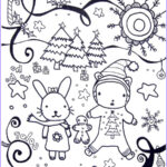 Winter Scene Coloring Pages Elegant Gallery Free Printable Winter Coloring Pages