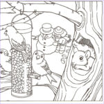 Winter Scene Coloring Pages Elegant Photos Winter Coloring Pages For Adults Coloring Home
