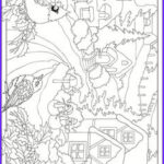 Winter Scene Coloring Pages Inspirational Collection Seasonal Coloring Pages On Pinterest