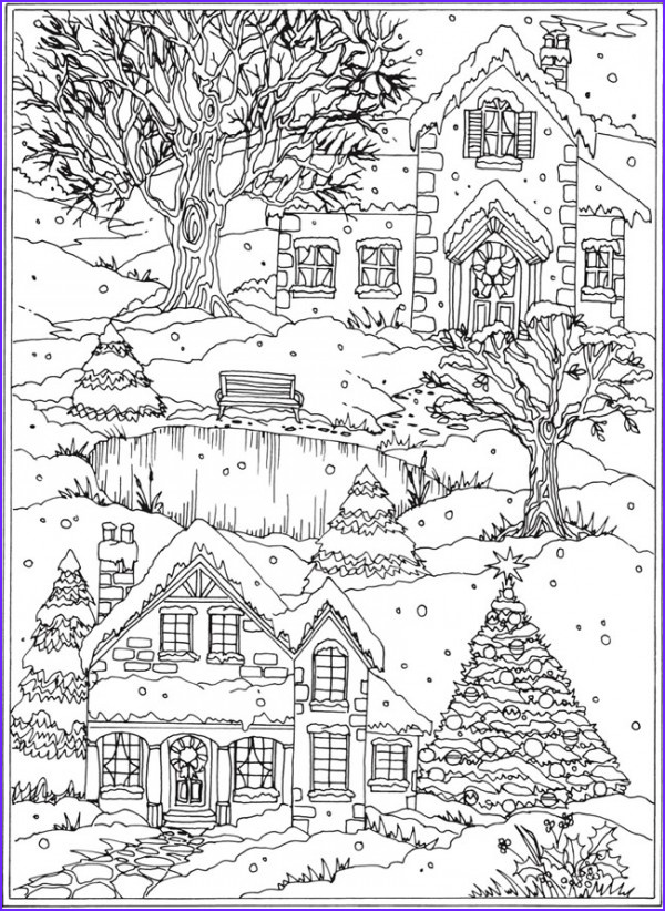 Winter Scene Coloring Pages Inspirational Gallery Freebie Snow Scene Coloring Page – Stamping