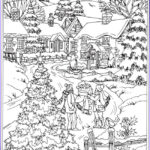 Winter Scene Coloring Pages Inspirational Image Winter Coloring Pages For Adults Best Coloring Pages For