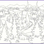 Winter Scene Coloring Pages Luxury Collection 5 Free Winter Scenes Coloring Pages