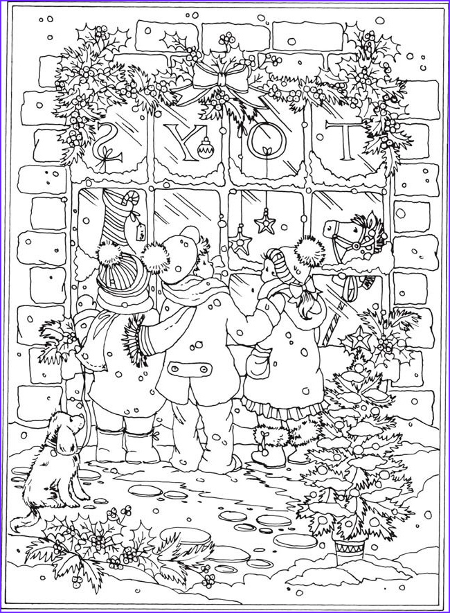 Winter Scene Coloring Pages New Image Wel E to Dover Publications From Creative Haven Winter