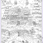 Winter Scene Coloring Pages New Photos Wel E To Dover Publications From Creative Haven Winter