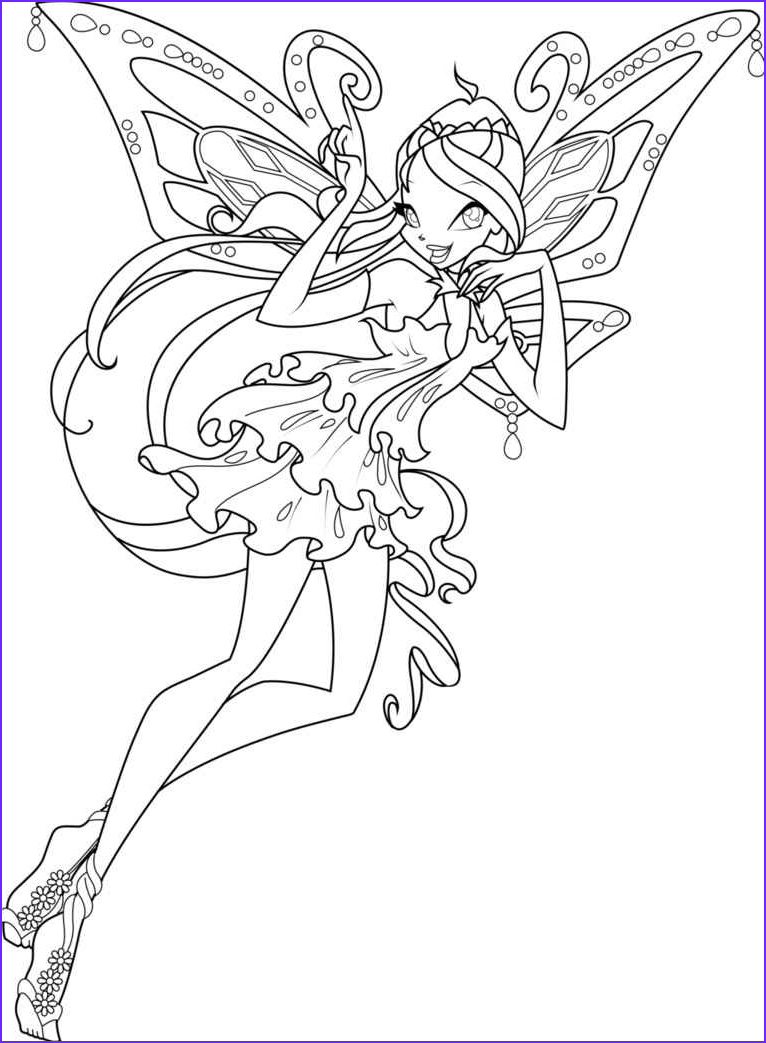 Winx Club Coloring Pages Awesome Photos Winx Harmonix Coloring Pages to and Print for Free