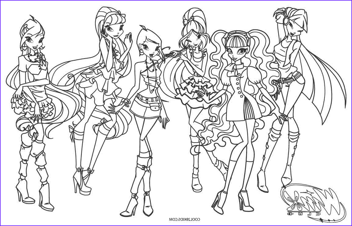 Winx Club Coloring Pages Beautiful Photos Free Printable Winx Coloring Pages for Kids