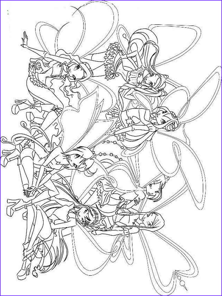 Winx Club Coloring Pages Inspirational Gallery Winx Club Coloring Pages Download and Print Winx Club