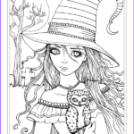 Witch Coloring Pages For Adults Awesome Photos Autumn Fantasy Coloring Book Halloween Witches Vampires