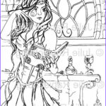 Witch Coloring Pages For Adults Luxury Images 293 Best Witch Coloring Images On Pinterest