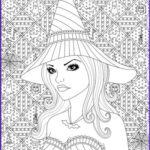 Witch Coloring Pages For Adults New Photos 168 Best Dark Coloring Images By Eva Gubik On Pinterest