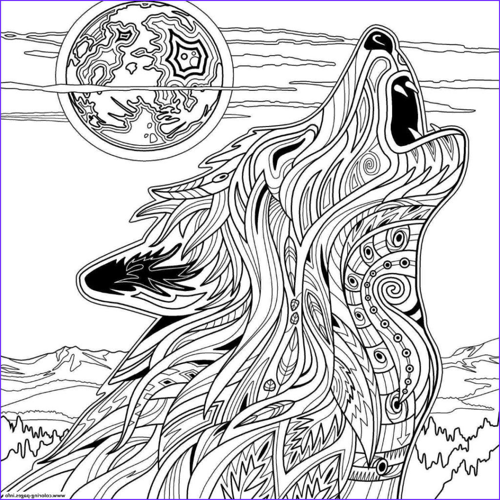 Wolf Coloring Pages for Adults Awesome Photography Wolf Coloring Pages Animal Coloring Pages