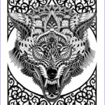 Wolf Coloring Pages For Adults Beautiful Images 65 Best Zentangle 2 Images On Pinterest