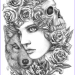 Wolf Coloring Pages For Adults Best Of Collection 102 Best Images About Wolves On Pinterest