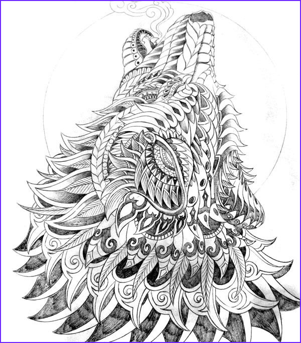 Wolf Coloring Pages for Adults Best Of Collection Coloring for Adults Kleuren Voor Volwassenen
