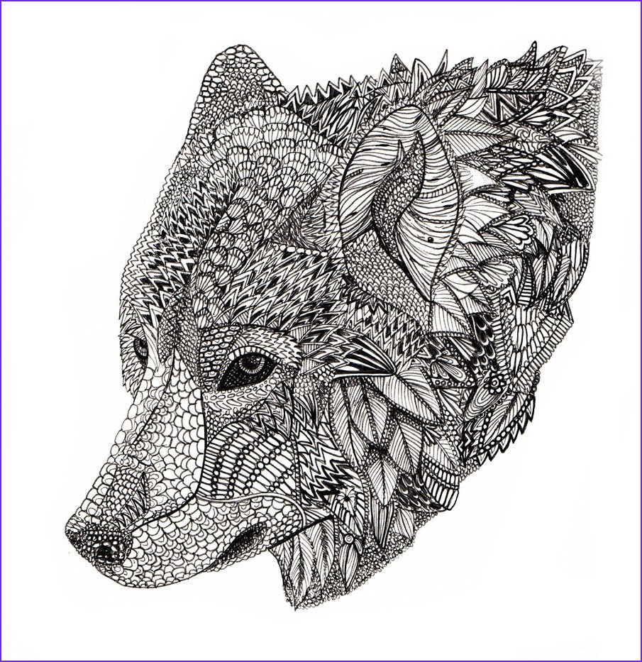 Wolf Coloring Pages for Adults Cool Photography Wolf