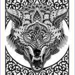 Wolf Coloring Pages For Adults Luxury Stock 17 Best Images About Therapy On Pinterest