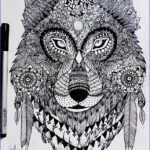 Wolf Coloring Pages For Adults New Photos Zentangle Wolf By Itsalanaviantart On Deviantart