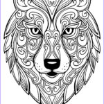 Wolf Coloring Pages For Adults New Stock Wolf 2 Wolves Adult Coloring Pages