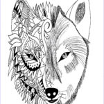Wolf Coloring Pages For Adults Unique Image Tattoo Wolf Krissy Tattoos Adult Coloring Pages