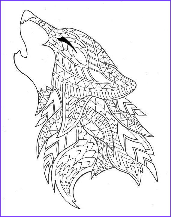 Wolf Coloring Pages for Adults Unique Photos Wolf Coloring Page by Syvanahbennett On Etsy