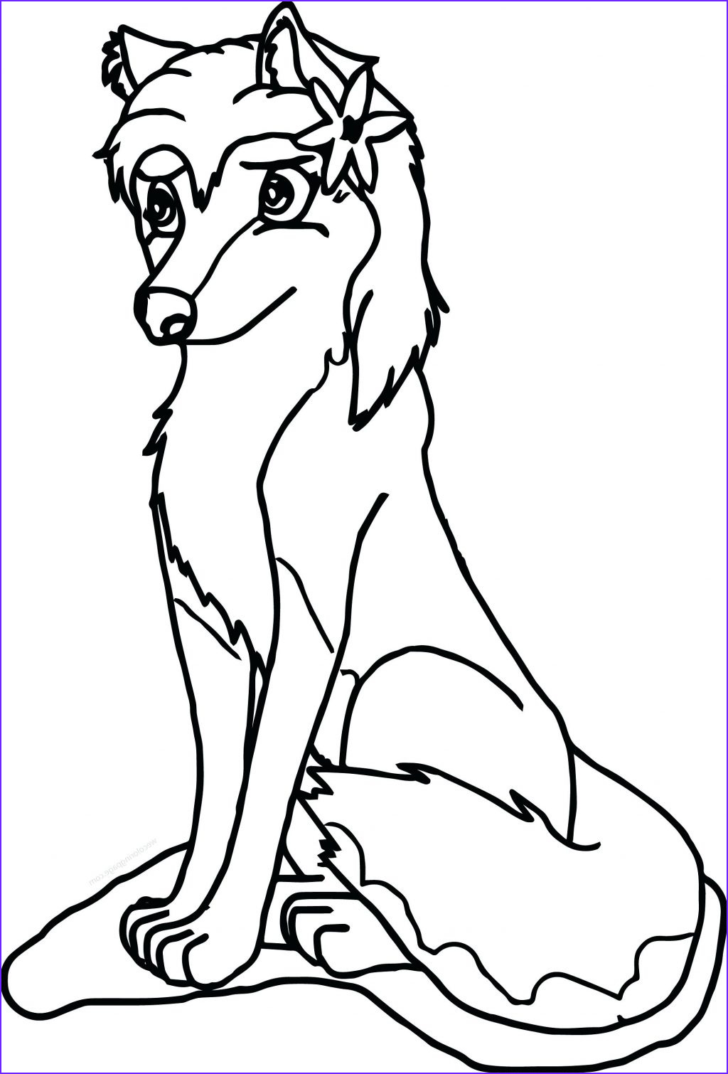 detailed wolf coloring pages