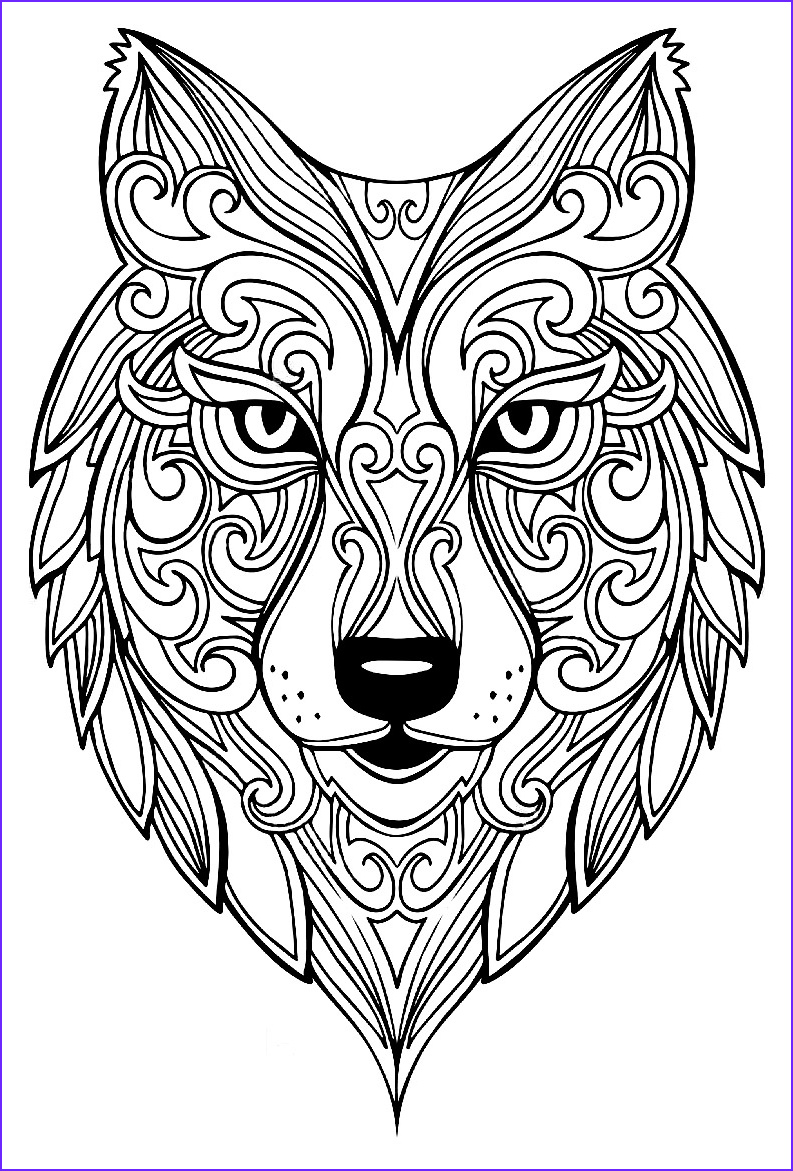 Wolves Coloring Book Elegant Photos Wolf 2 Wolves Adult Coloring Pages