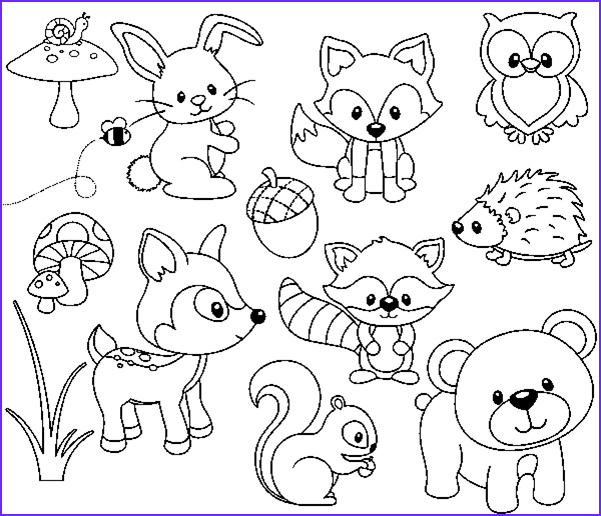 Woodland Animals Coloring Pages Awesome Collection Pin by Thinkquanaut On Coloring N Printables
