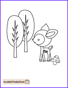 Woodland Animals Coloring Pages Awesome Stock Free Printable Woodland Deer Coloring Page