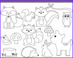 Woodland Animals Coloring Pages Beautiful Gallery Woodland Baby Animals Coloring Pages Coloring Pages