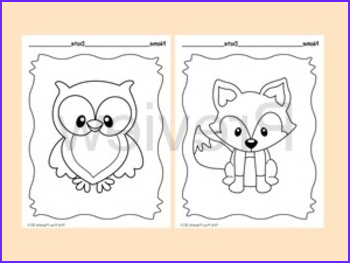 Woodland Animals Coloring Pages Beautiful Photography Woodland forest Animals Coloring Pages 8 Designs Fox