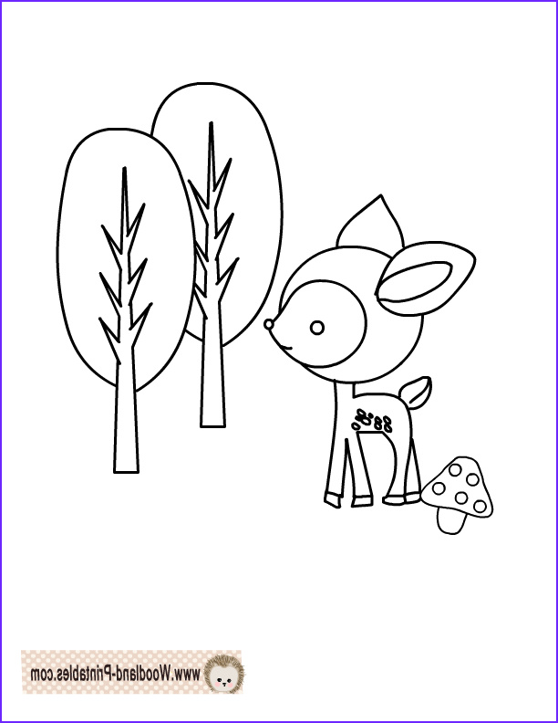 free prinable woodland animals coloring pages