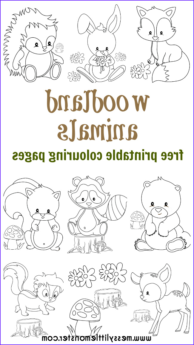 Woodland Animals Coloring Pages Cool Photography Woodland Animal Colouring Pages Arts & Crafts