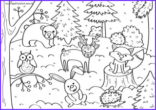 winter colouring pages